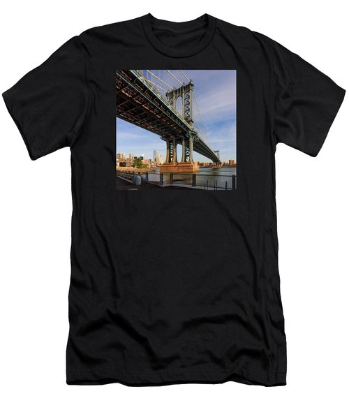 Men's T-Shirt (Slim Fit) featuring the photograph Ny Steel by Anthony Fields