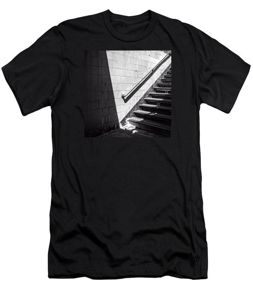 Ny Subway Stairs Men's T-Shirt (Athletic Fit)