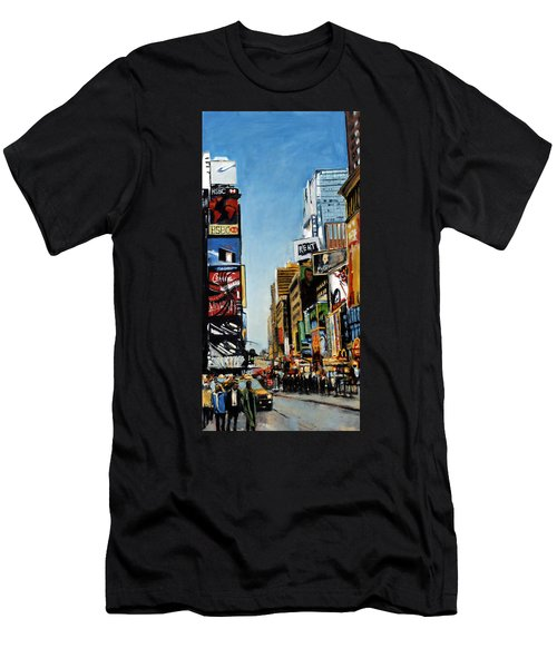 Nyc IIi Cab Dodging Men's T-Shirt (Athletic Fit)