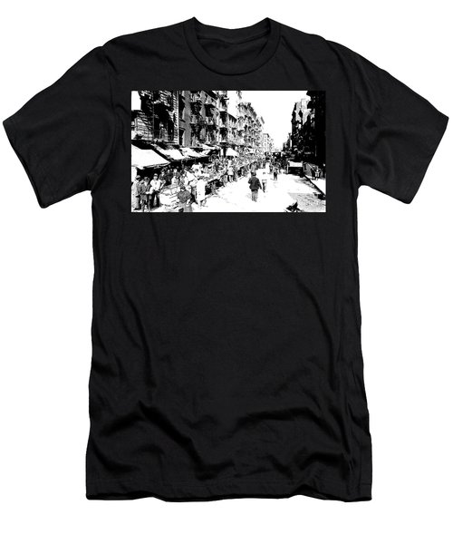Nyc Lower East Side - 1902 -market Day Men's T-Shirt (Athletic Fit)