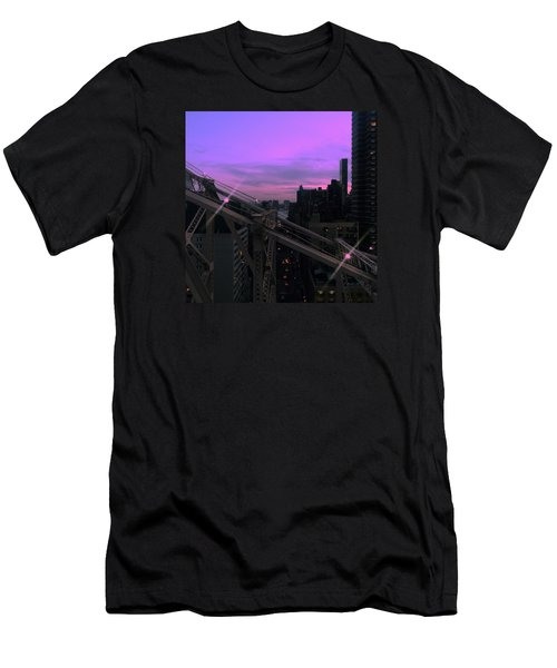 Nyc Sunset Men's T-Shirt (Athletic Fit)
