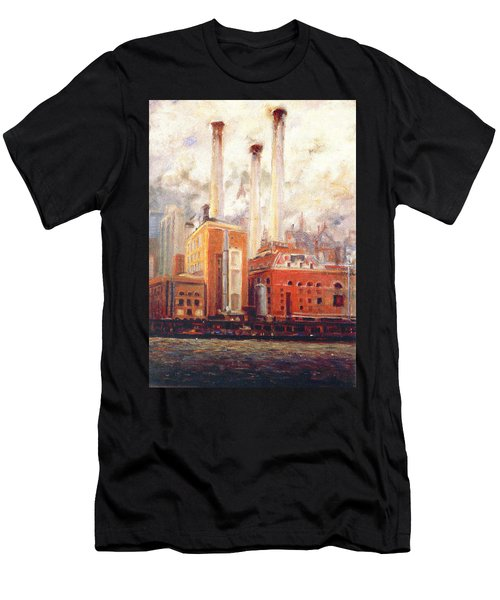 Nyc- View From East River  Men's T-Shirt (Athletic Fit)
