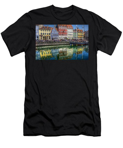 Nyhavn Harbor Area, Copenhagen Men's T-Shirt (Slim Fit) by Karen McKenzie McAdoo