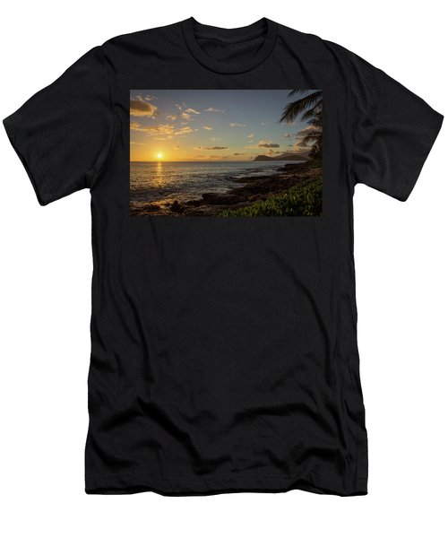 Men's T-Shirt (Athletic Fit) featuring the photograph Oahu Sunset by RKAB Works