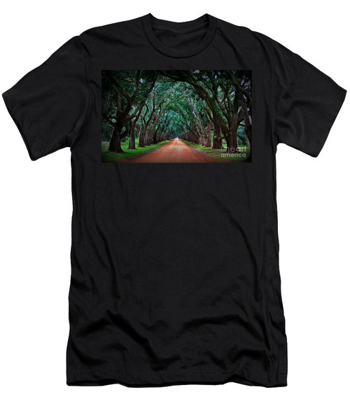 Oak Alley Road Men's T-Shirt (Athletic Fit)