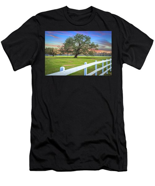 Oak Alley Signature Tree At Sunset Men's T-Shirt (Athletic Fit)