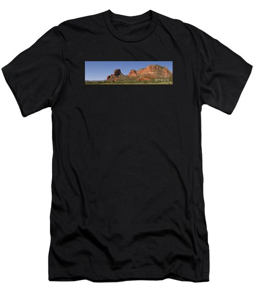 Oak Creek Panorama In Red Men's T-Shirt (Athletic Fit)