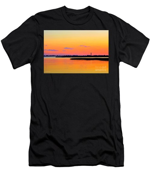 Oak Island Lighthouse Sunset Men's T-Shirt (Athletic Fit)