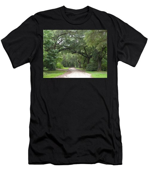 Oak Laden Back Road Men's T-Shirt (Athletic Fit)