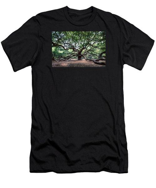 Oak Of The Angels Men's T-Shirt (Slim Fit) by Renee Sullivan