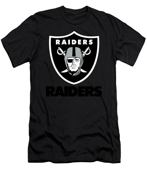 Oakland Raiders On An Abraded Steel Texture Men's T-Shirt (Athletic Fit)