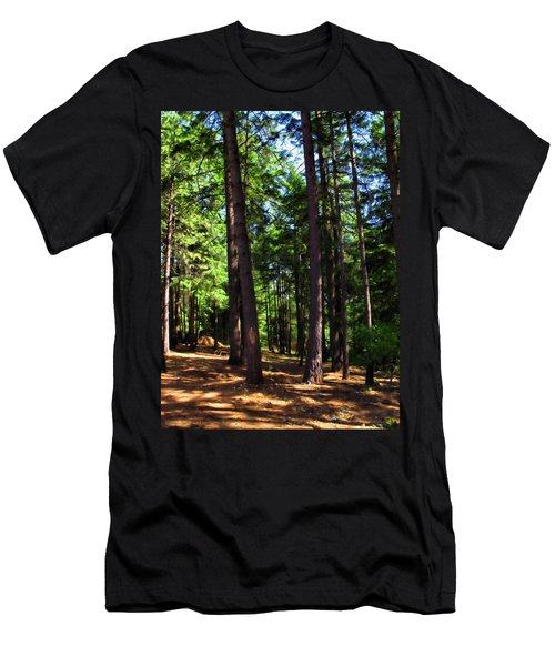Oakrun Forest Men's T-Shirt (Slim Fit) by Joyce Dickens
