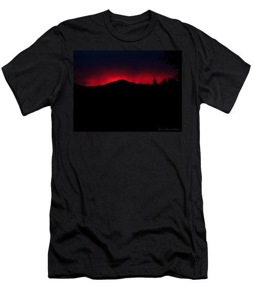 Oakrun Sunset 06 09 15 Men's T-Shirt (Slim Fit) by Joyce Dickens