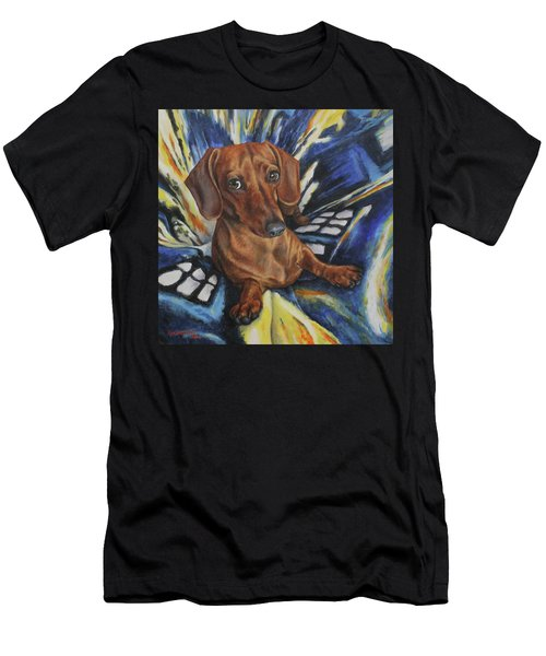 Dachshund Time Lord Men's T-Shirt (Athletic Fit)