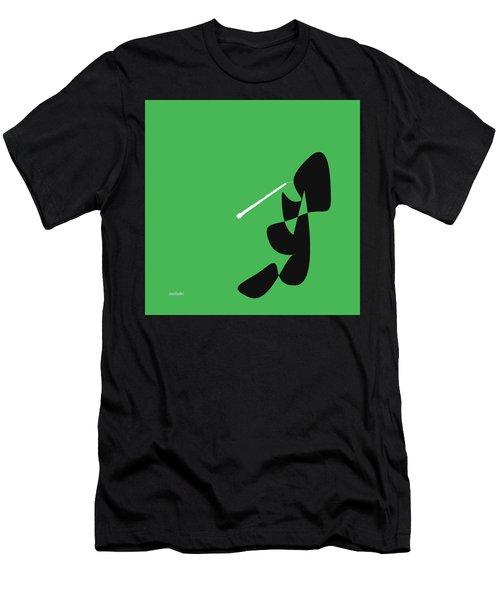 Oboe In Green Men's T-Shirt (Slim Fit) by David Bridburg