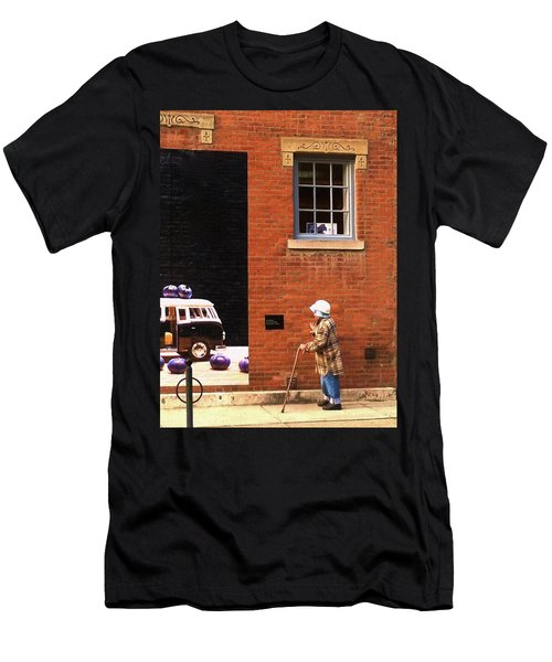Observing Building Art Men's T-Shirt (Athletic Fit)