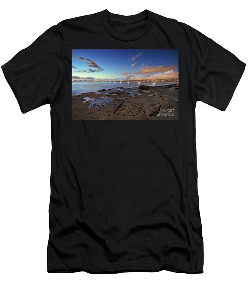 Ocean Beach Pier At Sunset, San Diego, California Men's T-Shirt (Athletic Fit)