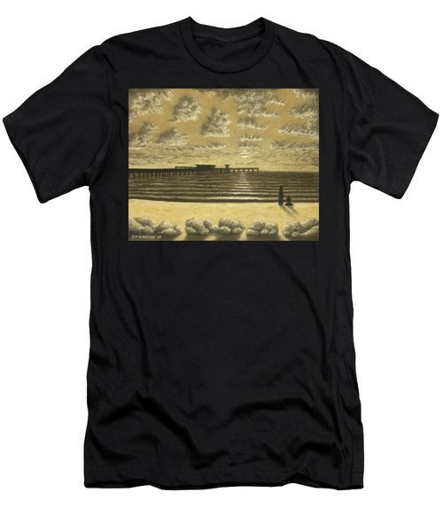 Ocean Beach Pier Sunset 01 Men's T-Shirt (Athletic Fit)