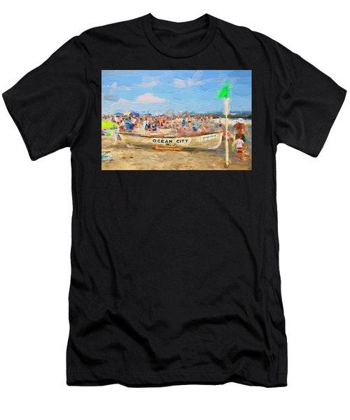 Ocean City Rescue Boat 2 Men's T-Shirt (Athletic Fit)