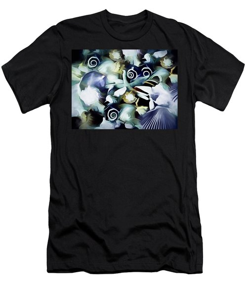Men's T-Shirt (Athletic Fit) featuring the mixed media Ocean Gems 21 by Lynda Lehmann