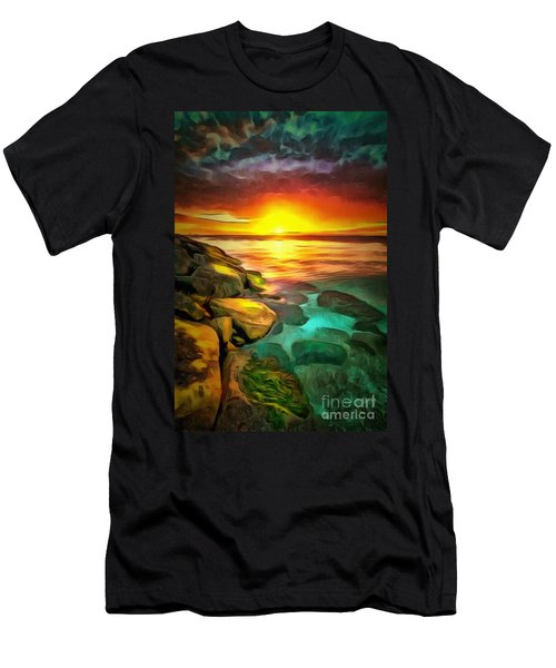 Ocean Lit In Ambiance Men's T-Shirt (Athletic Fit)