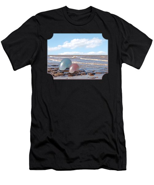 Ocean Love Affair - Nautilus Shells - Square Men's T-Shirt (Athletic Fit)