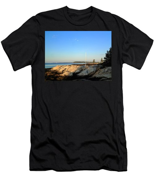 Men's T-Shirt (Slim Fit) featuring the photograph Ocean Point by Lois Lepisto