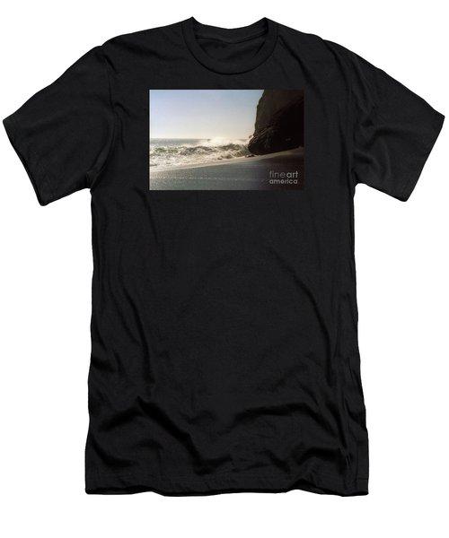 Ocean Rock Beach Headlands Men's T-Shirt (Slim Fit) by Ted Pollard