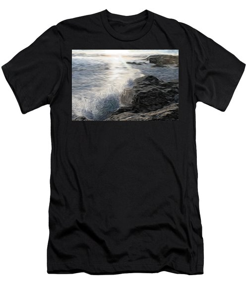 Ocean Splash Men's T-Shirt (Athletic Fit)