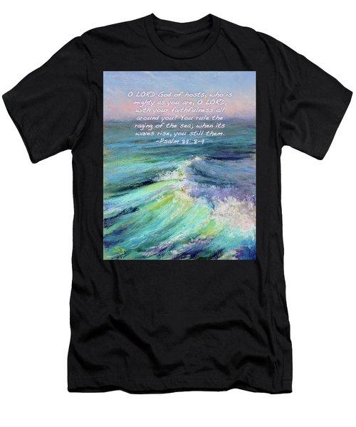 Ocean Symphony With Bible Verse Men's T-Shirt (Athletic Fit)