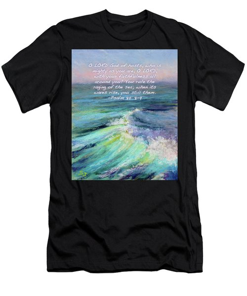 Ocean Symphony With Bible Verse Men's T-Shirt (Athletic Fit)
