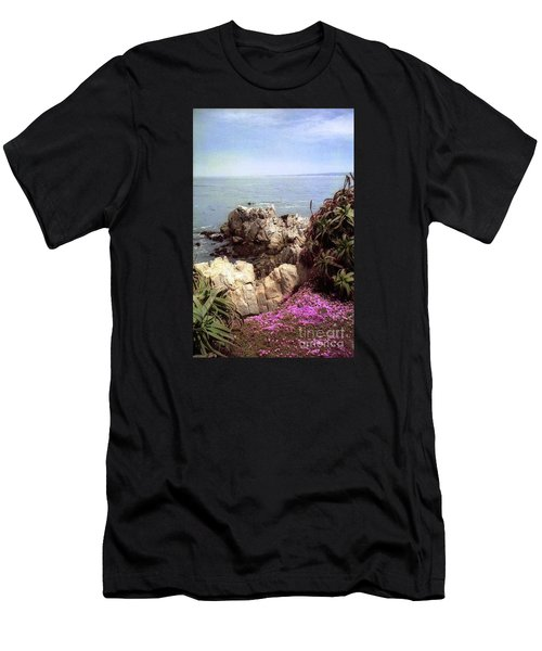Ocean View Rock And Flowers Men's T-Shirt (Athletic Fit)