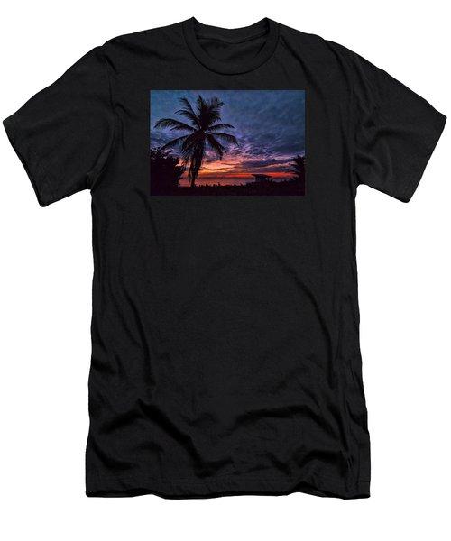 Oceanfront Before Sunrise Men's T-Shirt (Slim Fit) by Don Durfee