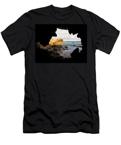 Oceanfront Cave Men's T-Shirt (Athletic Fit)