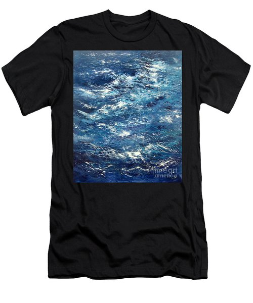 Ocean's Blue Men's T-Shirt (Athletic Fit)