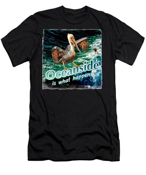 Oceanside Happens Men's T-Shirt (Athletic Fit)