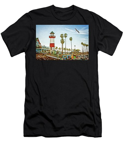 Oceanside Harbor Lighthouse Men's T-Shirt (Athletic Fit)
