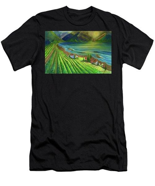 Sunset Vineyard  Men's T-Shirt (Athletic Fit)