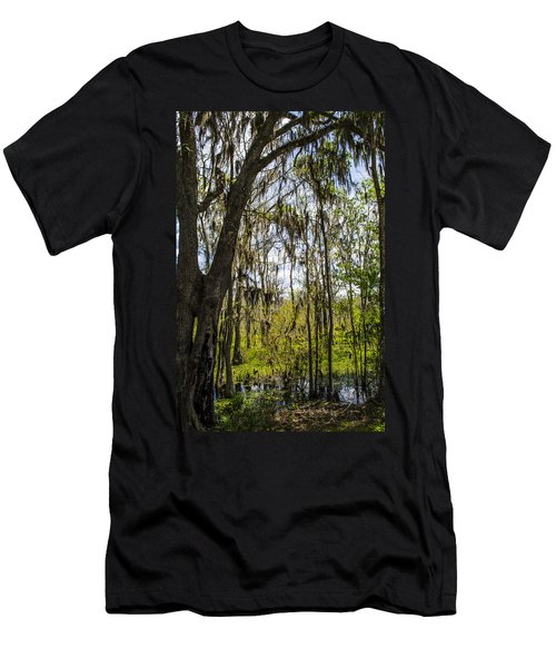 Ocklawaha Spanish Moss In The Swamp Men's T-Shirt (Athletic Fit)