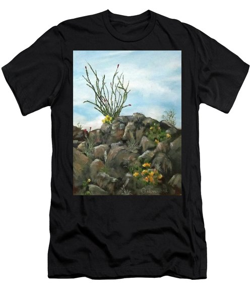 Ocotillo In Bloom Men's T-Shirt (Athletic Fit)