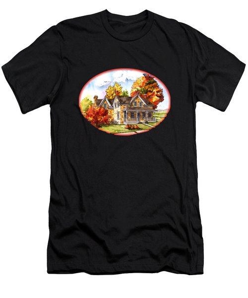 October At The Farm Men's T-Shirt (Athletic Fit)