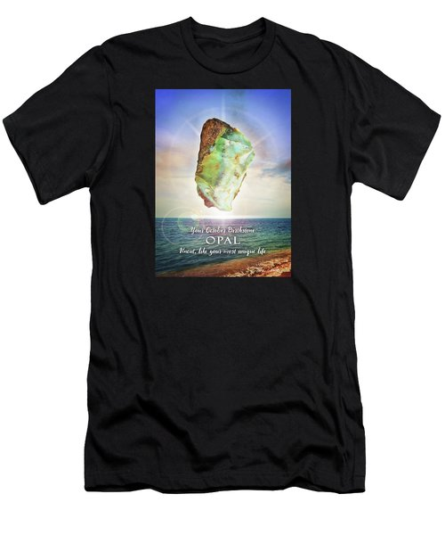 October Birthstone Opal Men's T-Shirt (Athletic Fit)