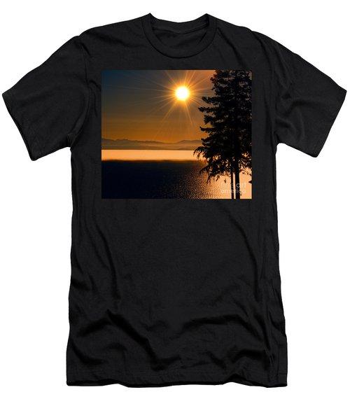 October Fog Men's T-Shirt (Slim Fit) by Elaine Hunter