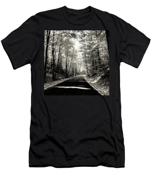 October Grayscale  Men's T-Shirt (Athletic Fit)