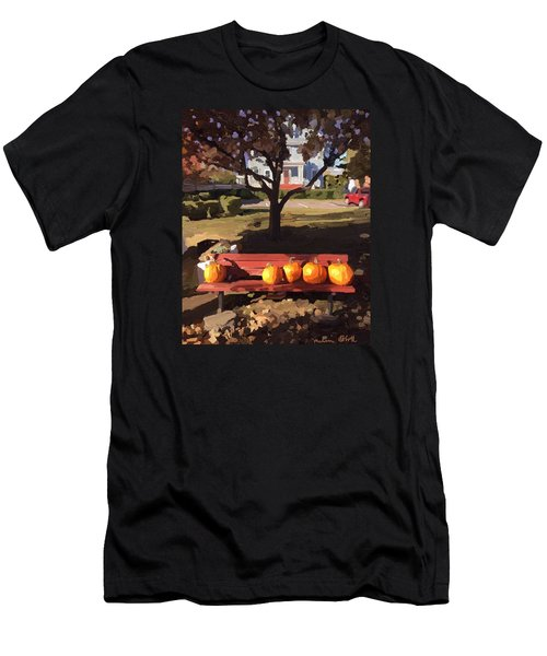 October Pumpkins Men's T-Shirt (Athletic Fit)