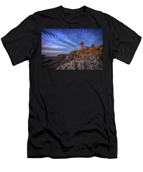 Men's T-Shirt (Athletic Fit) featuring the photograph October Sky At West Quoddy Head Light by Rick Berk
