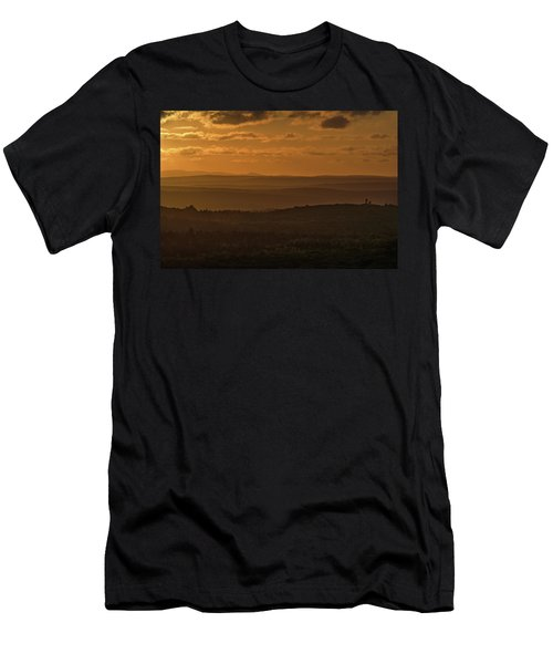 October Sunset In Acadia Men's T-Shirt (Athletic Fit)