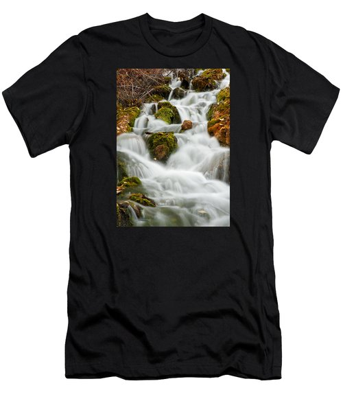 October Waterfall Men's T-Shirt (Athletic Fit)