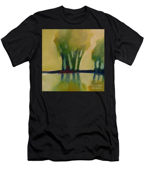 Men's T-Shirt (Athletic Fit) featuring the painting Odd Little Trees by Michelle Abrams