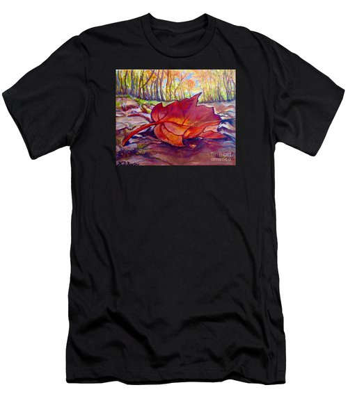 Ode To A Fallen Leaf Painting Men's T-Shirt (Athletic Fit)